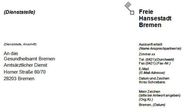Transparenzportal Bremen - Rundschreiben Der Senatorin Für